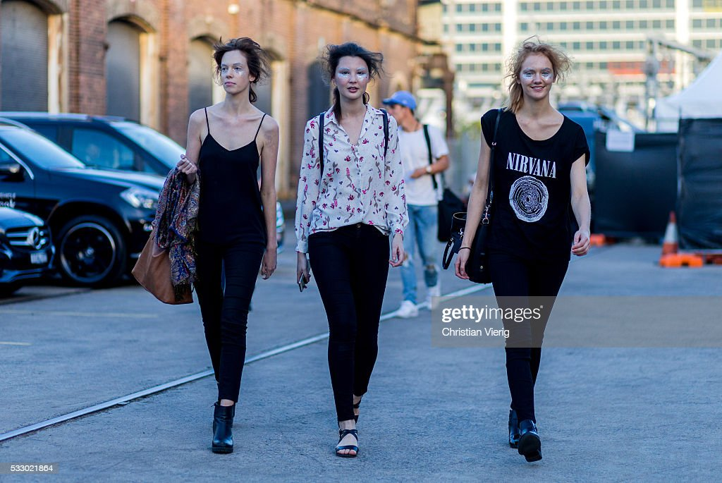 Models at Mercedes-Benz Fashion Week Resort 17 Collections at Carriageworks on May 20, 2016 in Sydney, Australia.