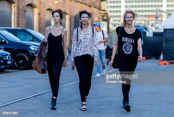 Models at MercedesBenz Fashion Week Resort 17 Collections at Carriageworks on May 20 2016 in Sydney Australia