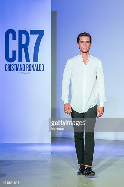 Models at the FW15 CR7 Footwear show on October 5 2015 in Guimaraes Portugal
