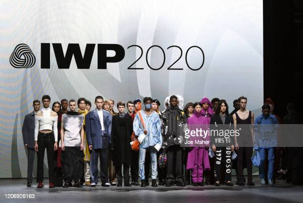 Models at the International Woolmark Prize 2020 during London Fashion Week February 2020 at Ambika P3 on February 17 2020 in London England