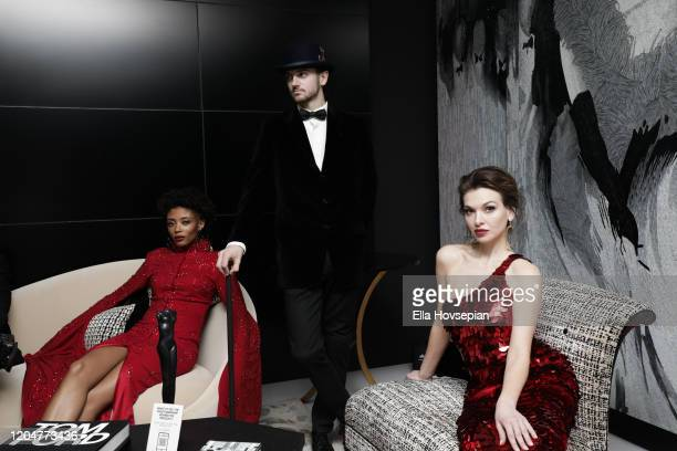 Models at the LA Launch Event Of SohoMuse at Christopher Guy West Hollywood Showroom on February 07 2020 in West Hollywood California