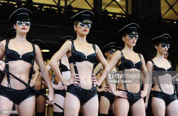 Models attend a photocall for Agent Provocateur's 'The New World Order' collection on September 16 2009 in London England