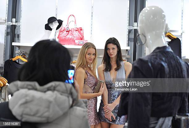 Models attend Bebe and PEOPLE StyleWatch Give and Get Glam Event at Bebe Store Soho on December 8 2011 in New York City