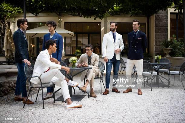 Models attend Brunello Cucinelli Presentation Milan Men's Fashion Week Spring/Summer 2020 on June 15 2019 in Milan Italy