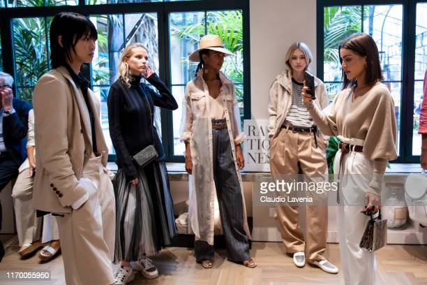 Models attend Brunello Cucinelli SS20 Women Collection Presentation on September 18 2019 in Milan Italy