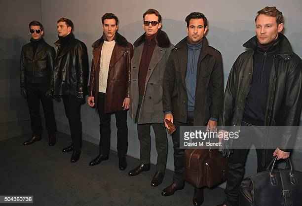 Models attend dunhill Autumn Winter 2016 Collection Presentation LCM on January 10 2016 in London England