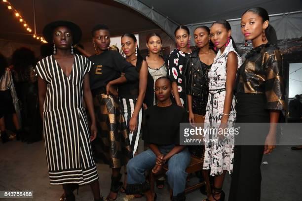 Models Attend Harlem's Fashion Row at La Marina Restaurant Bar Beach Lounge on September 6 2017 in New York City