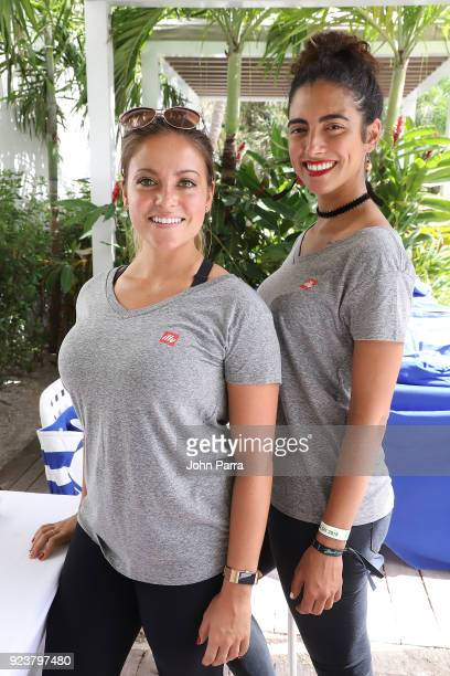 Models attend illy At Buddhas And Bellinis #livehapilly At SOBEWFF at Loews Miami Beach on February 24 2018 in Miami Beach Florida