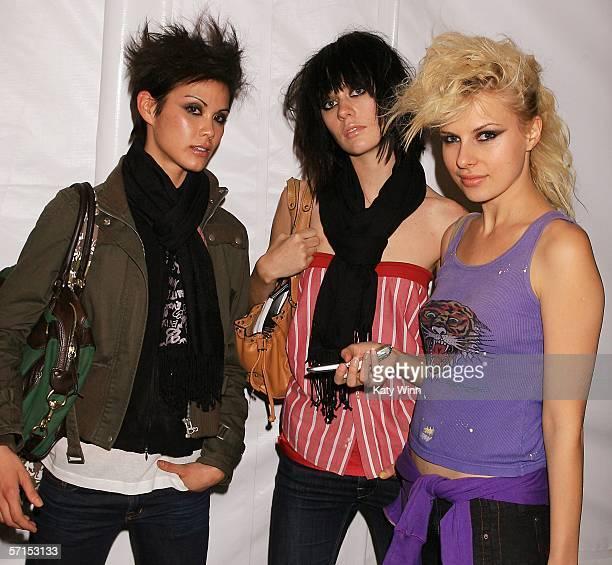 Models attend MercedesBenz Fashion Week at Smashbox Studios on March 21 2006 in Culver City California