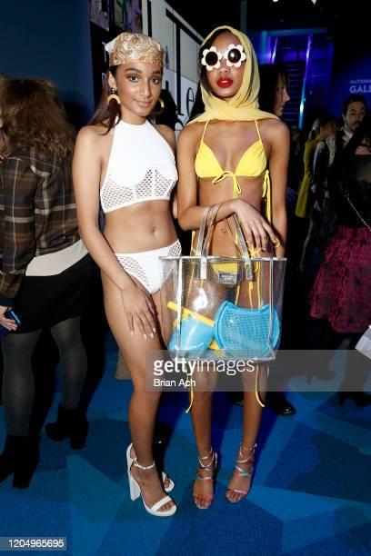 Models attend NYFW Powered By hiTechMODA on February 08 2020 in New York City