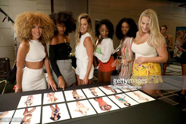 Models attend Sports Illustrated's 2019 Model Search Open Casting Call During Miami Swim Week At W South Beach - Day 2 at W Hotel on July 13, 2019 in...