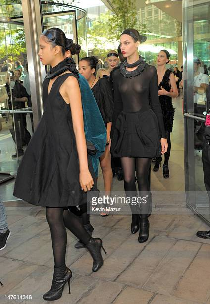 Models attend the 2010 CFDA Fashion Awards at Alice Tully Hall, Lincoln Center on June 7, 2010 in New York City.