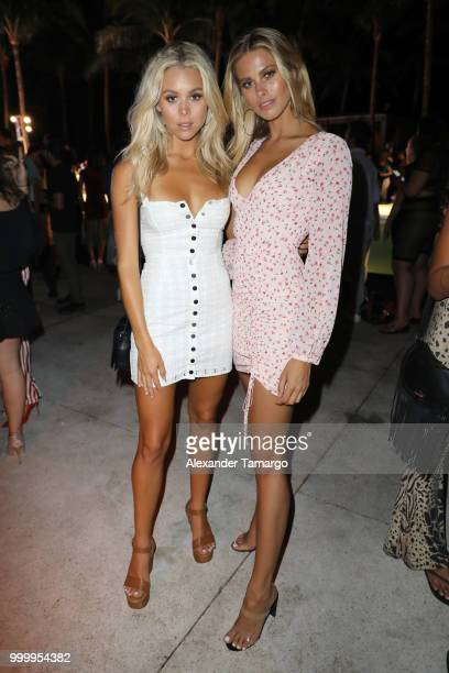 Models attend the 2018 Sports Illustrated Swimsuit party at PARAISO during Miami Swim Week at The W Hotel South Beach on July 15 2018 in Miami Florida