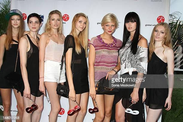 Models attend The Alexander Soros Foundation's Global Witness Unmasked Gala on July 7 2012 in Bridgehampton New York