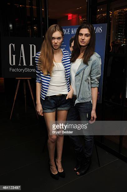 Models attend the Glamorous By George book launch celebration hosted by GAP Outlet at Andaz 5th Avenue on January 20, 2014 in New York City.