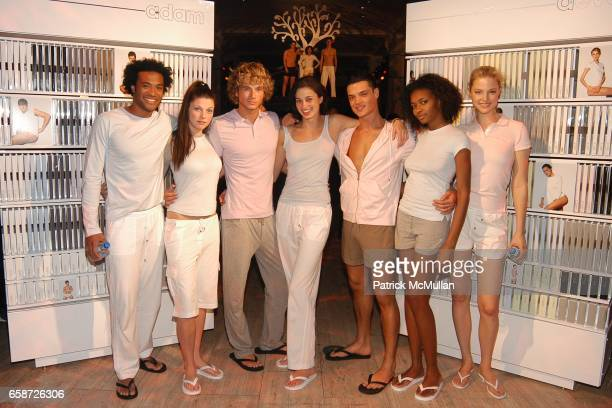 Models attend the Launch of Adam Lippes aadam and aeve underwear and sports wear at SAKS Fifth Avenue on February 18 2004 in New York City