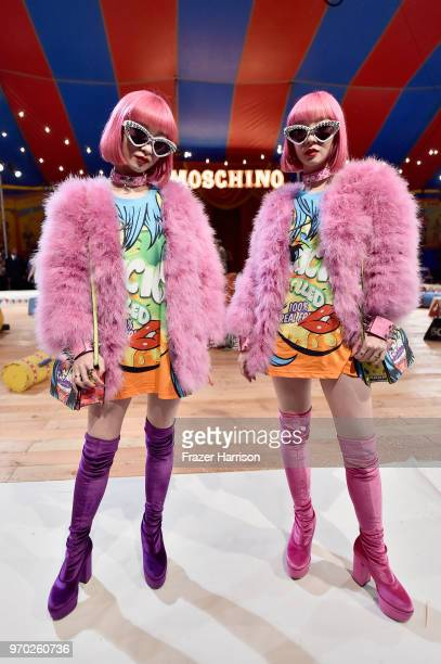 Models attend the Moschino Spring/Summer 19 Menswear and Women's Resort Collection at Los Angeles Equestrian Center on June 8 2018 in Burbank...