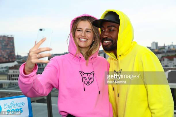 Models attend the Paul Ripke Rooftop Event during the Berlin Fashion Week Spring/Summer 2020 at ewerk on July 06 2019 in Berlin Germany