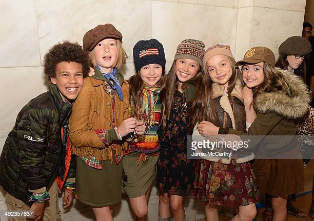 Models attend the Ralph Lauren Fall 14 Children's Fashion Show in Support of Literacy at New York Public Library on May 19 2014 in New York City