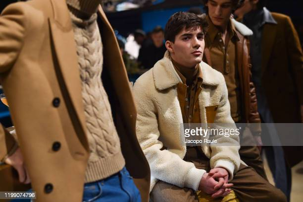 Models attend the Tod's presentation during the Milan Men's Fashion Week on January 12, 2020 in Milan, Italy.