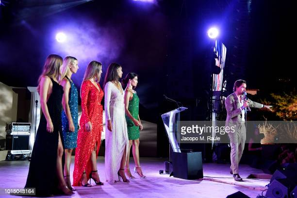 Models attend the Unicef Summer Gala Presented by Luisaviaroma afterparty at Villa Violina on August 10 2018 in Porto Cervo Italy