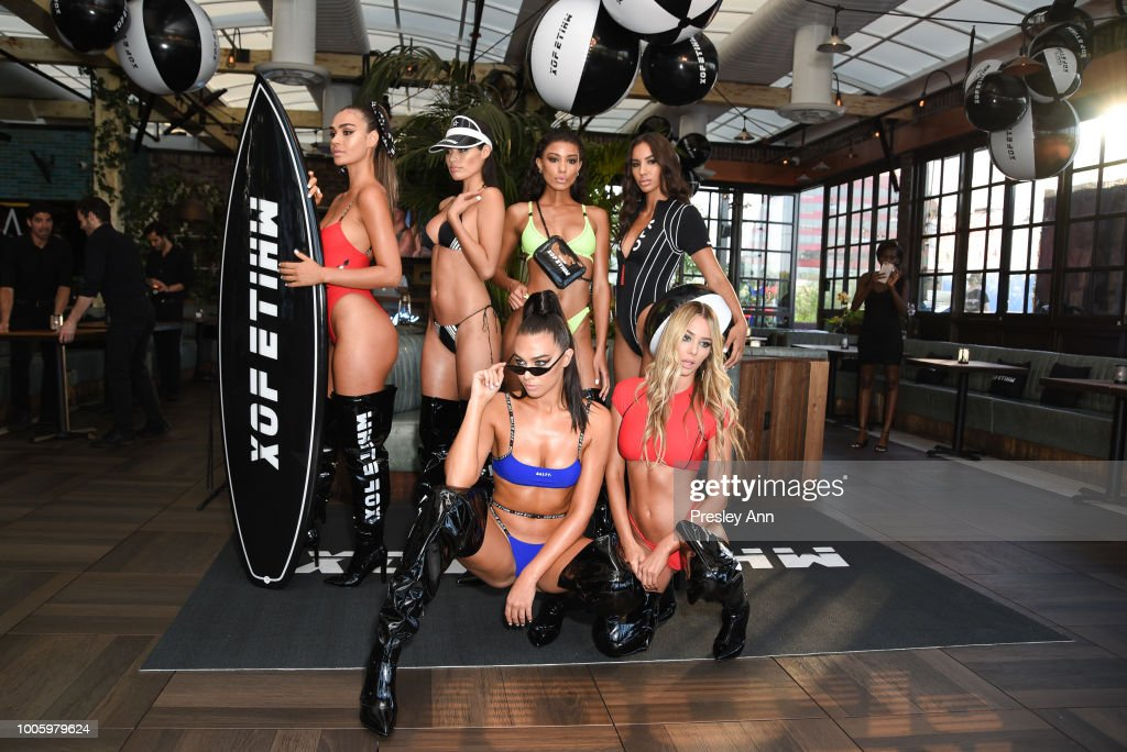 Models attend White Fox Boutique Swimwear Launch Of 100% Salty at Catch on July 26, 2018 in West Hollywood, California.