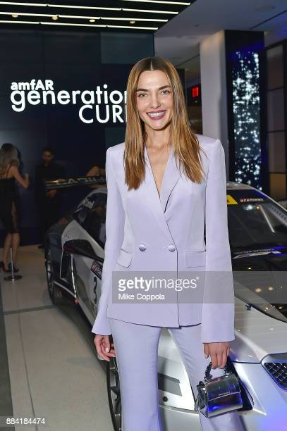 Models attendS the 2017 amfAR generationCURE Holiday Party on December 1 2017 in New York City