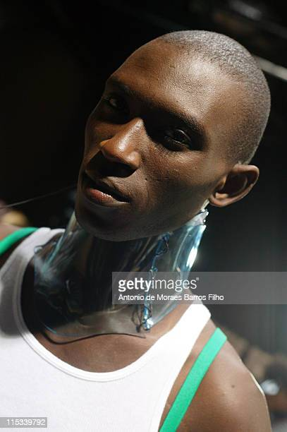 Models backstage after the Miharayasuhiro show during Paris Menswear Fashion Week Spring/Summer 2008 on June 30 2007 in Paris France