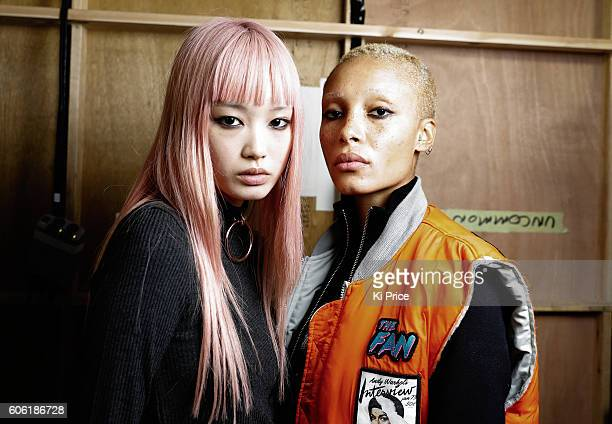 Models backstage ahead of the Ashley Williams runway show during London Fashion Week Spring/Summer collections 2017 on September 16 2016 in London...