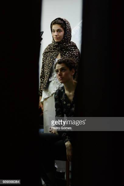 Models backstage ahead of the Asli Filinta show during Mercedes Benz Fashion Week Istanbul at Zorlu Center on March 29 2018 in Istanbul Turkey