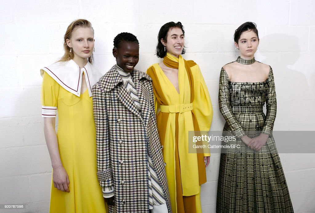 Emilia Wickstead - Backstage - LFW February 2018