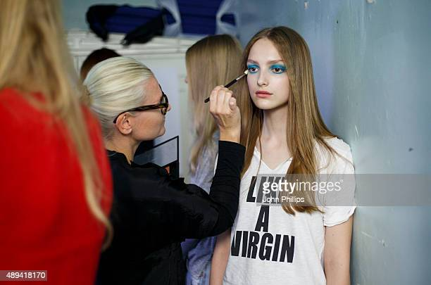 Models backstage ahead of the Roksanda show during London Fashion Week Spring/Summer 2016/17 on September 21 2015 in London England