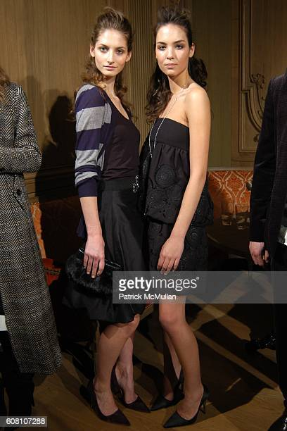Models Backstage at Adam Eve Fall 2006 Presentation at Buddakan on February 6 2006 in New York City