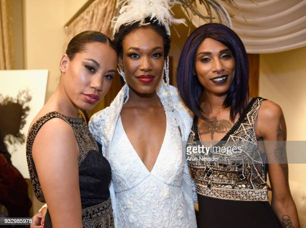 Models backstage at Los Angeles Fashion Week Powered by Art Hearts Fashion LAFW FW/18 10th Season Anniversary Backstage and Front Row Day 5 at The...