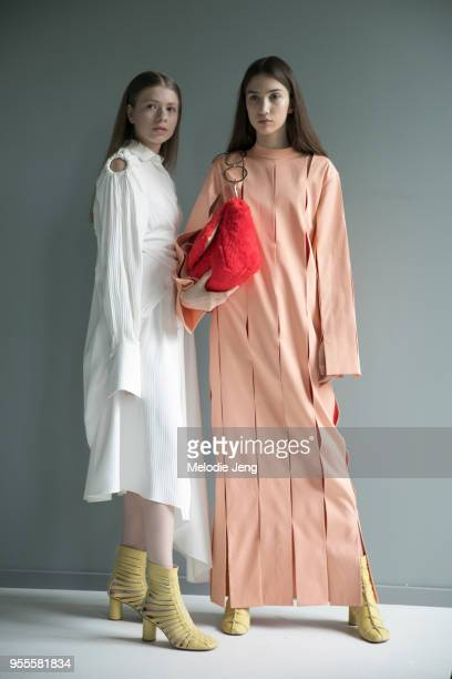 Models backstage at Materiel by Materiel by Lado Bokuchava FW18 on May 6 2018 in Tbilisi Georgia