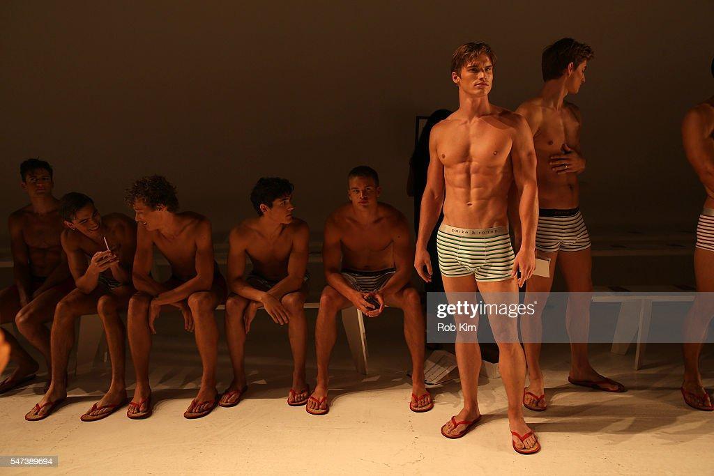 NY: Parke & Ronen Spring 2017 - New York Fashion Week Men's - Backstage