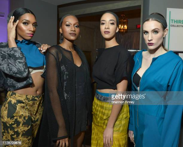 Models backstage at the District of Fashion Fall/Winter 2019 Runway Show on February 07 2019 at the National Museum of Women in the Arts in...