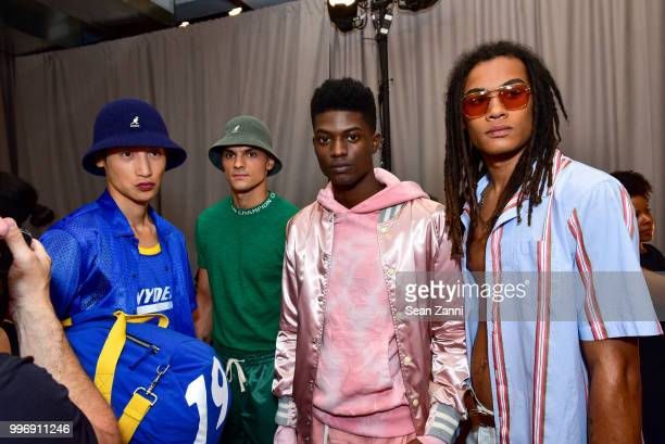 Models backstage at the Todd Snyder S/S 2019 Collection during NYFW Men's July 2018 at Industria Studios on July 11 2018 in New York City