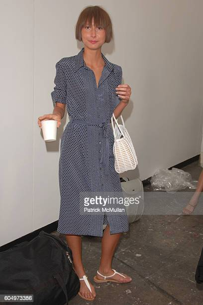Models Backstage attends ADAMEVE by Adam Lippes Spring 2007 Fashion Show at Banchet Flowers on September 11 2006 in New York City