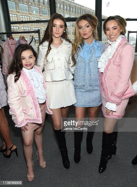 Models backstage before the Cosmopolitan NYFW fashion show during New York Fashion Week at Tribeca 360 on February 08 2019 in New York City