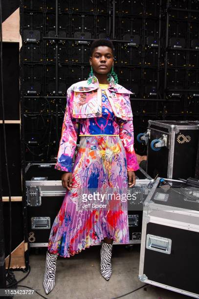 Models backstage during the Bath Spa University show at Graduate Fashion Week at The Truman Brewery on June 03, 2019 in London, England.