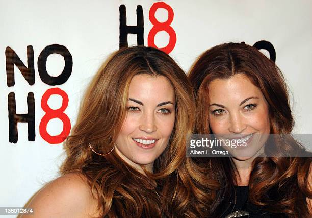 Models Becky O'Donohue and Jesse O'Donohue arrive for the City of West Hollywood's Proclaimation of Dec 13th as NOH8 Day held at The House Of Blues...