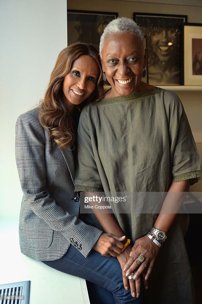 Iman & Bethann Haridson Portrait Shoot : News Photo