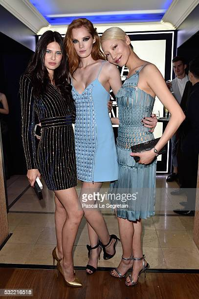 Models Bianca Balti, Alexina Graham and Soo Joo Park attend the L'Oreal Party during the annual 69th Cannes Film Festival at on May 18, 2016 in...