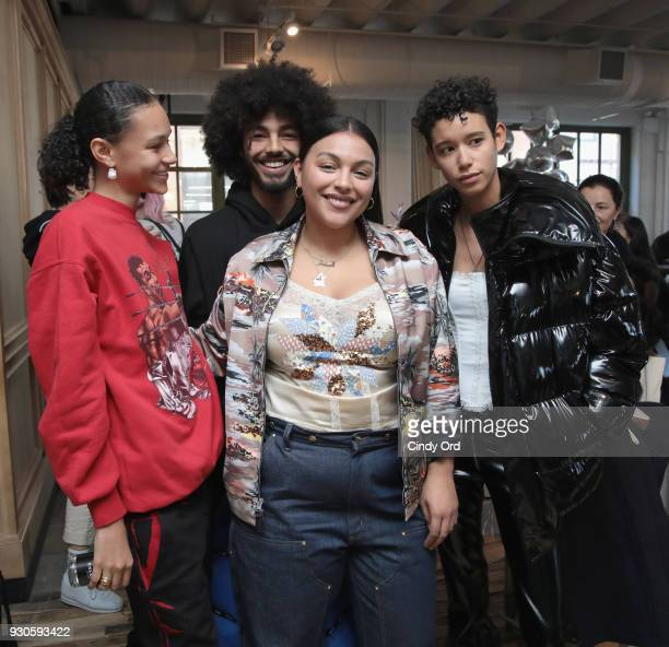 Models Binx Walton Paloma Elsesser and Dilone attend the Gurls Talk Festival in collaboration with Coach and Teen Vogue at Industry City on March 11...