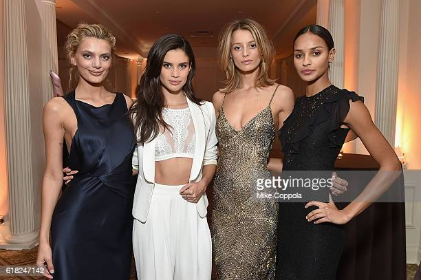 Models Bregje Heinen Sara Sampaio Flavia Lucini and Gracie Carvalho attend the 4th Annual Save the Children Illumination Gala at The Plaza hotel on...