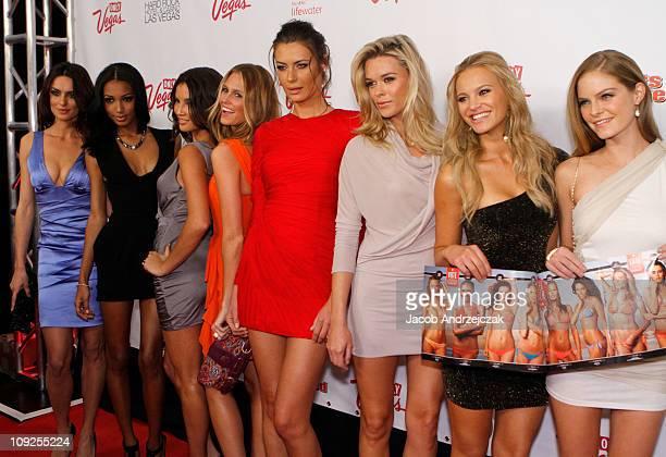 Models Catrinel Marlon Jasmine Tookes Tamiris Freitas Kathy Leutner Elena Baguci Kasia Gogolkiewicz Elisandra Tomacheski and Jessica Perez arrive at...