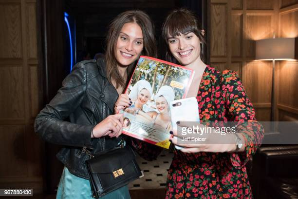 Models Charlotte Wiggins and Sam Rollinson celebrate the launch of Buffalo Zine Issue 7 'Noche Espanola' at The London EDITION on June 5 2018 in...