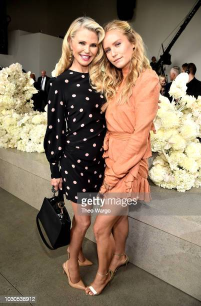 Models Christie Brinkley and Sailor Brinkley Cook attend the Zimmermann front row during New York Fashion Week The Shows at Gallery I at Spring...