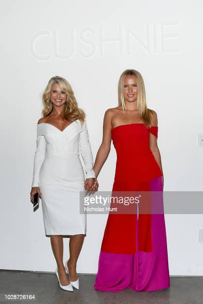 Models Christie Brinkley and Sailor BrinkleyCook attends the Cushnie front row during New York Fashion Week The Shows at Gallery I at Spring Studios...